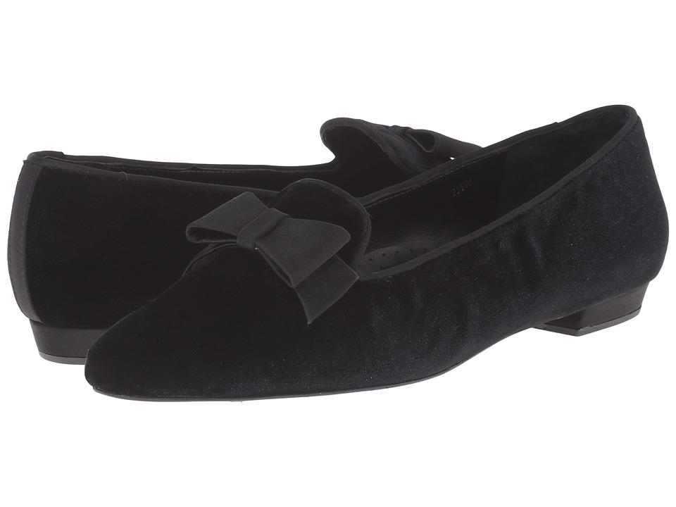 Vaneli - Gabbie (Black Velvet/Black Satin) Women's Slip on Shoes