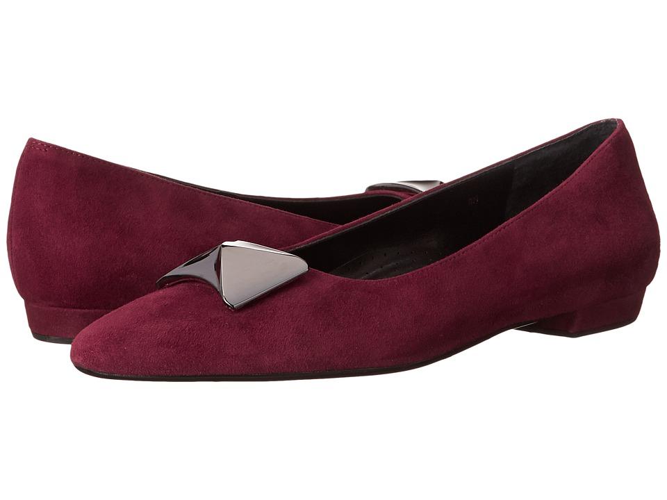 Vaneli - Gaenor (Amarento Red Suede) Women's Slip on Shoes