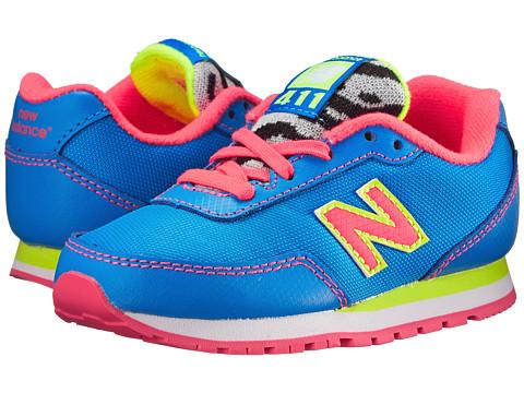 New Balance Kids - 411v1 (Infant/Toddler) (Blue/Pink) Girls Shoes