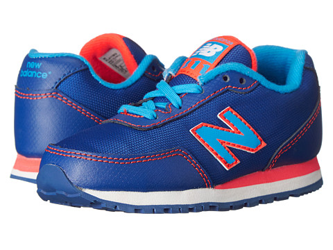 New Balance Kids - 411v1 (Infant/Toddler) (Blue/Orange) Girls Shoes