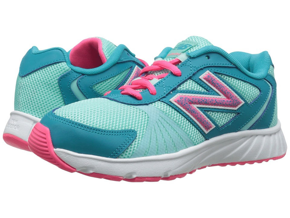 New Balance Kids - 555 (Little Kid/Big Kid) (Arctic Blue/Pink Zing) Girls Shoes