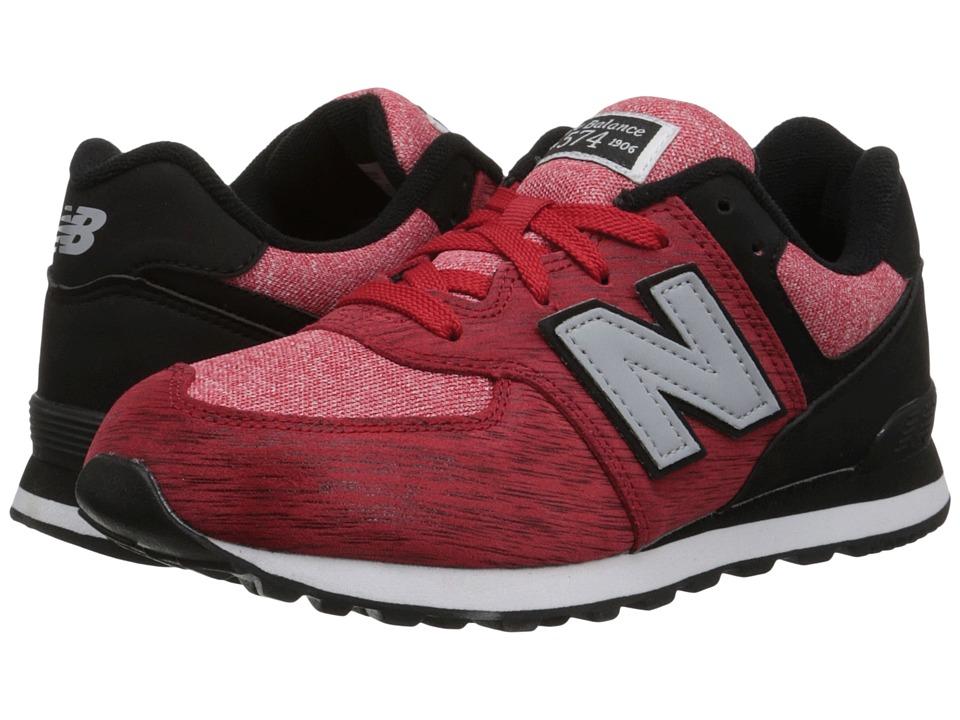 New Balance Kids - 574 Sweatshirt (Big Kid) (Red/Black) Boys Shoes