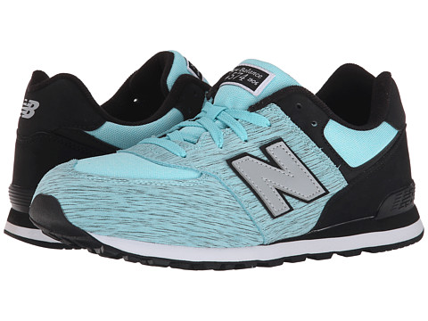 New Balance Kids - 574 Sweatshirt (Big Kid) (Aqua/Black) Girls Shoes