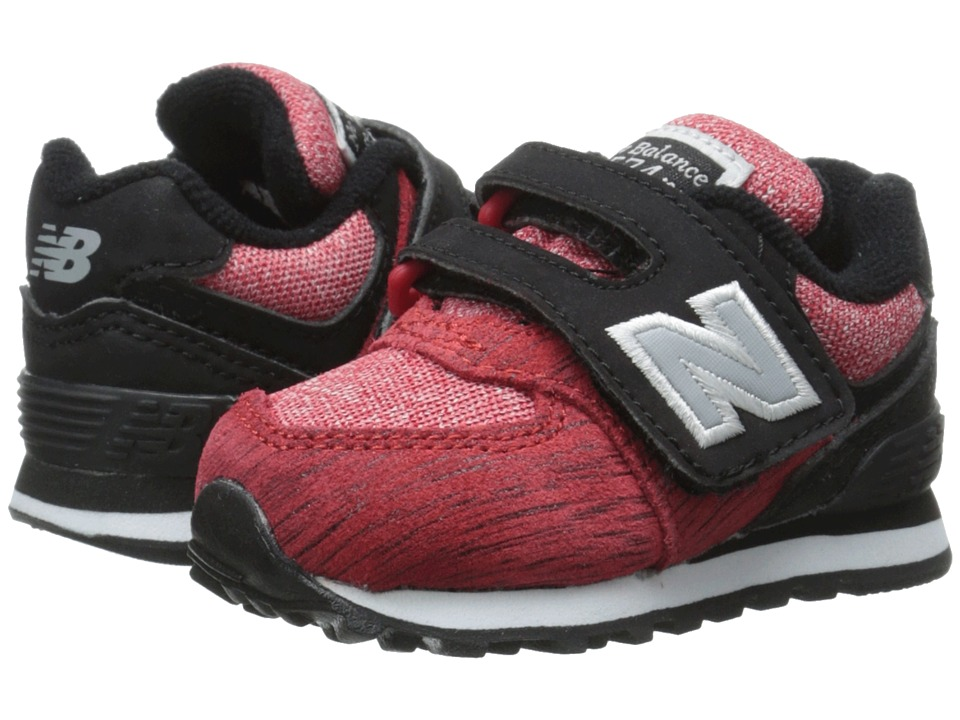 New Balance Kids - 574 Sweatshirt (Infant/Toddler) (Red/Black) Boys Shoes