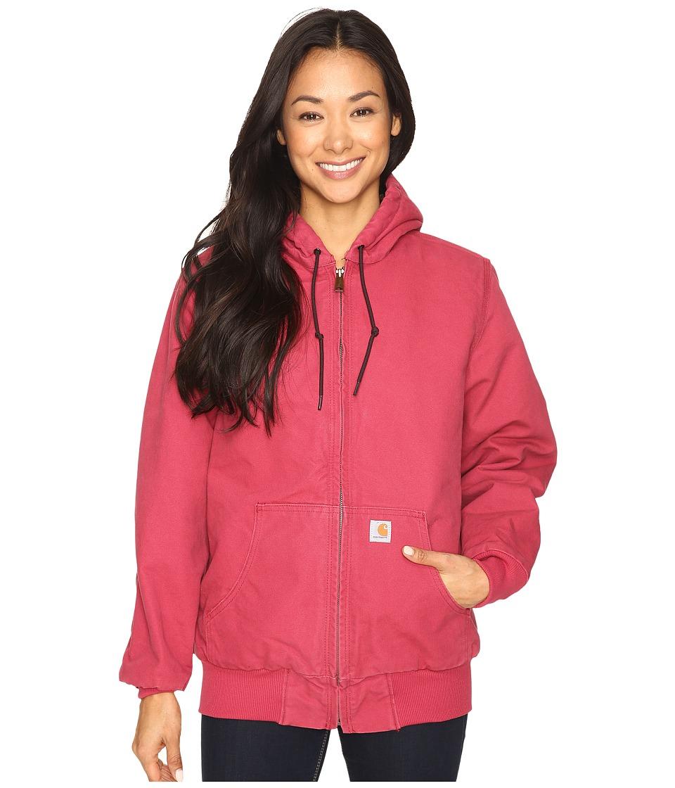 Carhartt - Sandstone Active Jacket/Camo-Lined (Crab Apple) Women's Coat