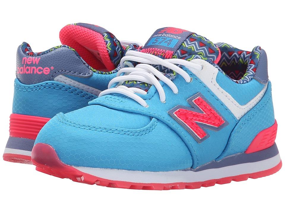 New Balance Kids - 574 Street Beat (Infant/Toddler) (Light Blue/Blue) Girls Shoes
