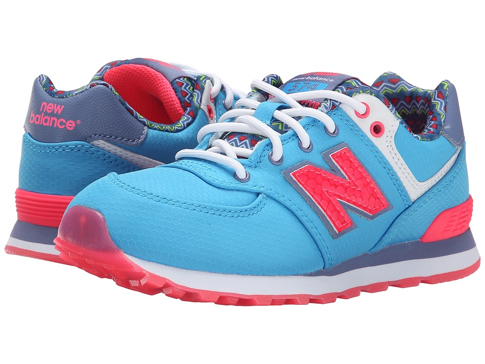New Balance Kids - 574 Street Beat (Little Kid) (Light Blue/Blue) Girls Shoes