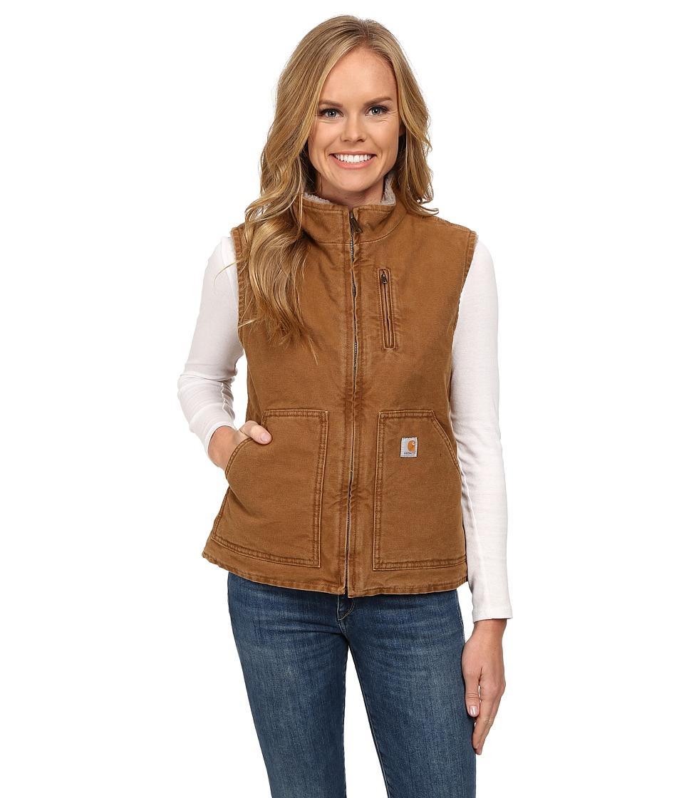 Carhartt - Sandstone Mock Neck Vest (Carhartt Brown) Women's Vest