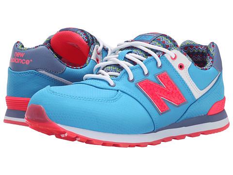 New Balance Kids - 574 Street Beat (Big Kid) (Light Blue/Blue) Girls Shoes