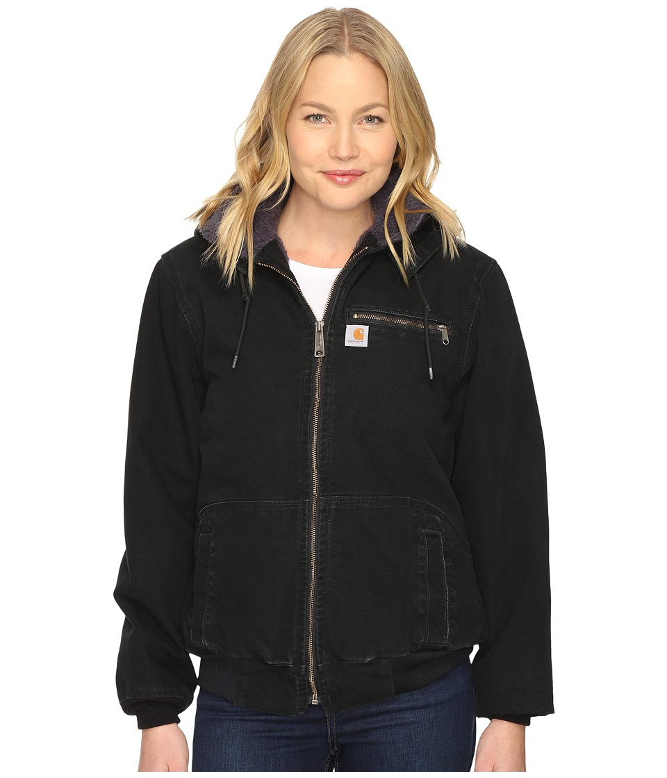 Carhartt - Weathered Duck Wildwood Jacket (Black/Coal Sherpa Lining) Women's Jacket