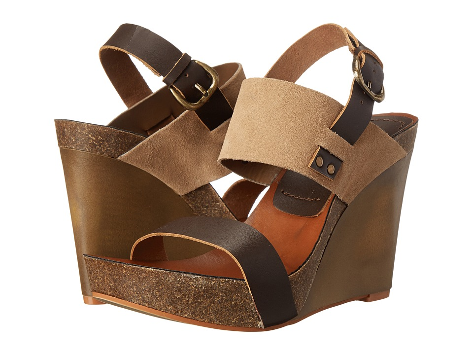 MIA - Foxy (Brown/Natural) Women's Wedge Shoes
