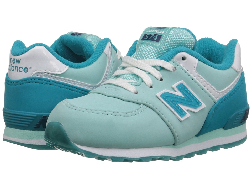 New Balance Kids 574 Glacial (Infant/Toddler) (Arctic Blue/Seaglass) Girls Shoes