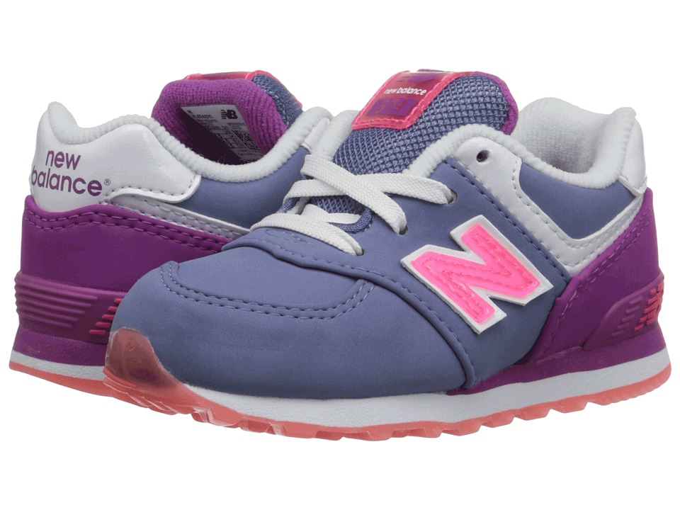 New Balance Kids - 574 Glacial (Infant/Toddler) (Daybreak/Pink) Girls Shoes