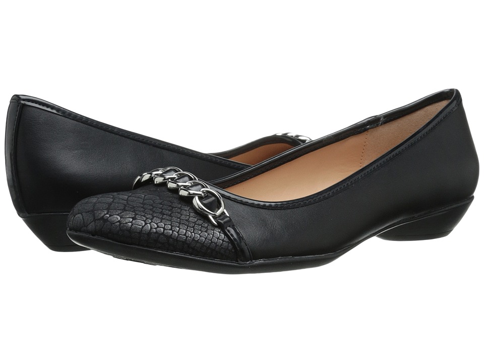 Naturalizer - Haloe (Black/Pewter Smooth) Women
