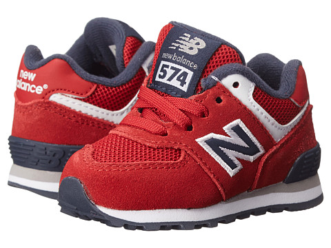 New Balance Kids - 574 Varsity (Infant/Toddler) (Chili Pepper/Peacoat) Boys Shoes