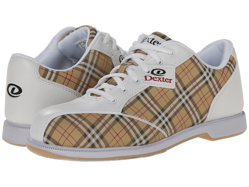 Dexter Bowling - Ana (White/Tan/Plaid) Women's Bowling Shoes