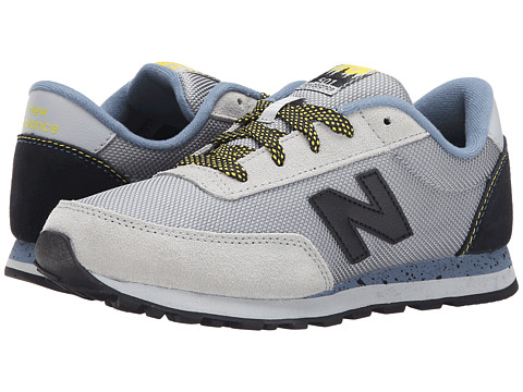 New Balance Kids - Classics '90s Outdoor (Big Kid) (Grey/Blue/Yellow) Boys Shoes