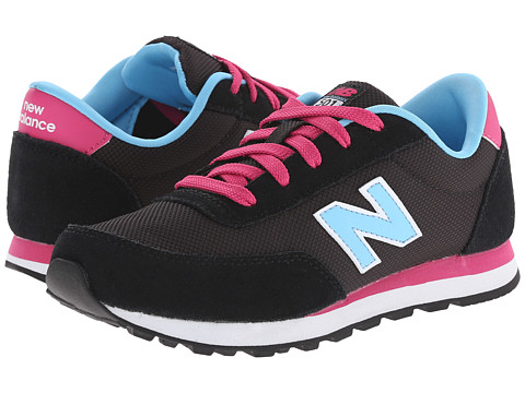 New Balance Kids - Classics Core (Little Kid/Big Kid) (Black/Polar Blue) Girls Shoes