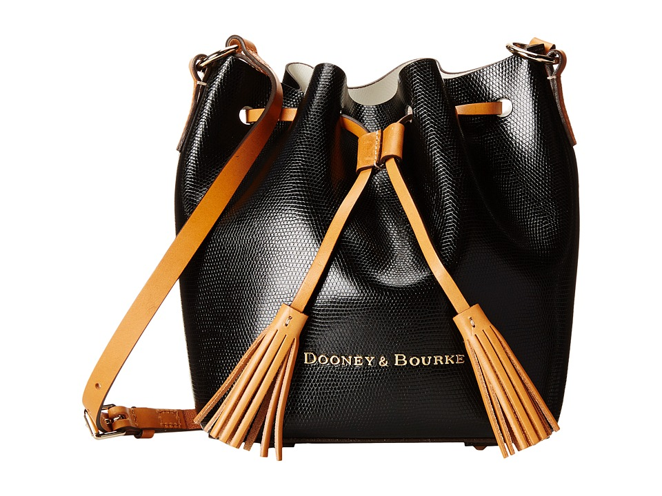 Dooney & Bourke - Siena Serena Crossbody (Black/White) Cross Body Handbags