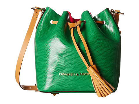 Dooney & Bourke - Siena Serena Crossbody (Kelly Green/Hot Pink) Cross Body Handbags