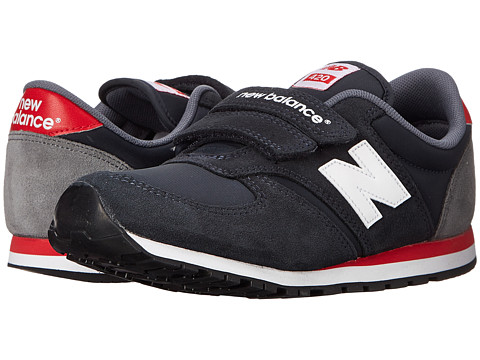 New Balance Kids - Classics 420 (Little Kid/Big Kid) (Navy/Red) Boys Shoes