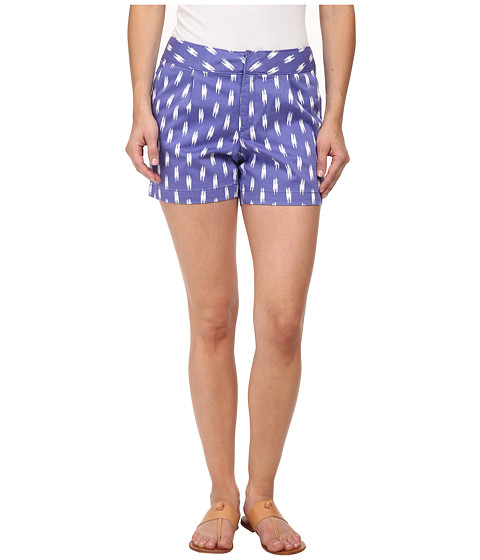 Dockers Petite - Petite Pleat Front Shorts (Ikat Print) Women's Shorts