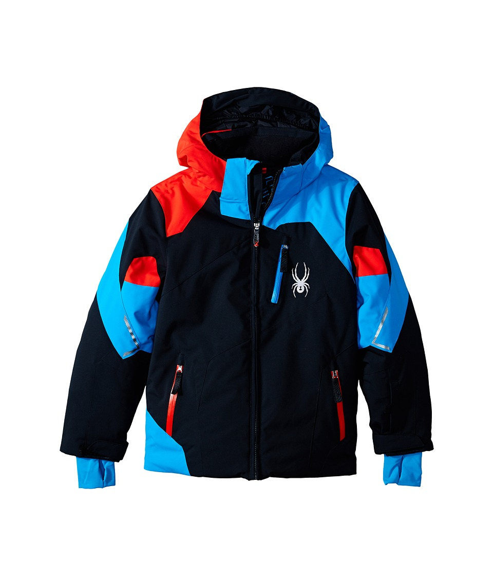 Spyder Kids - Leader Jacket (Big Kids) (Black/Electric Blue/Volcano) Boy's Coat