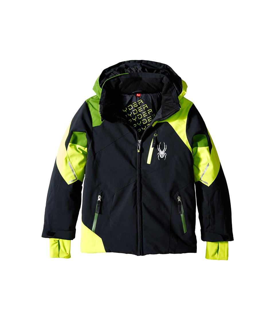 Spyder Kids - Leader Jacket (Big Kids) (Black/Theory Green/Mountain Top) Boy's Coat