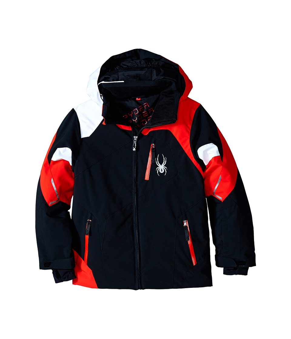 Spyder Kids - Leader Jacket (Big Kids) (Black/Volcano/White) Boy's Coat