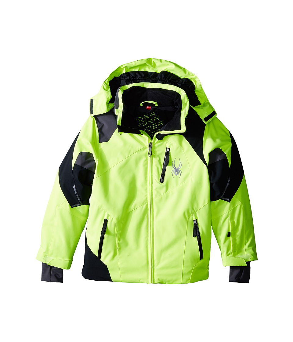 Spyder Kids - Leader Jacket (Big Kids) (Bryte Yellow/Black/Polar) Boy's Coat