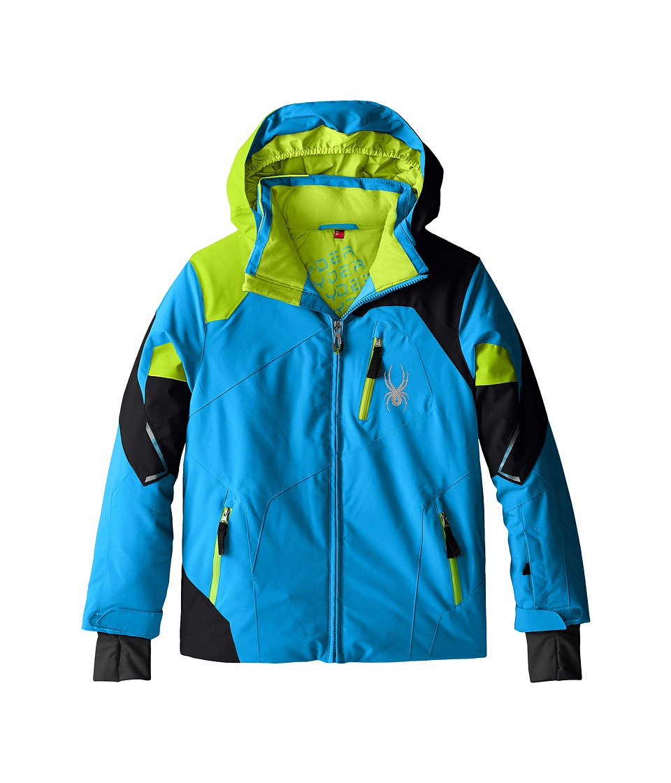 Spyder Kids - Leader Jacket (Big Kids) (Electric Blue/Black/Theory Green) Boy's Coat