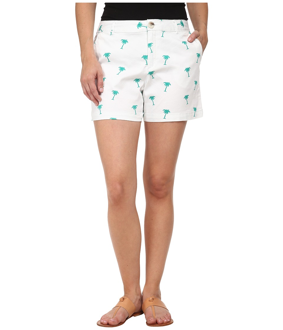 Dockers Petite - Petite Essential Shorts (Sea Green Combo) Women's Shorts