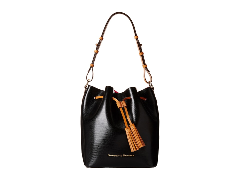 Dooney & Bourke - Siena Serena (Black/Hot Pink) Handbags