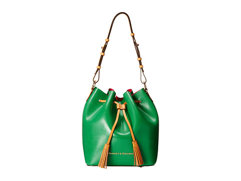 Dooney & Bourke - Siena Serena (Kelly Green/Hot Pink) Handbags