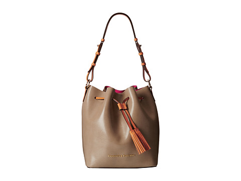 Dooney & Bourke - Siena Serena (Taupe/Hot Pink) Handbags