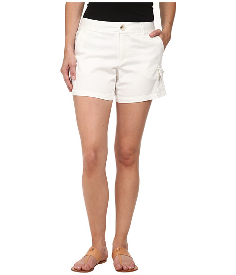 Dockers Petite - Petite Trapunto Stitch Cargo Shorts (White) Women's Shorts