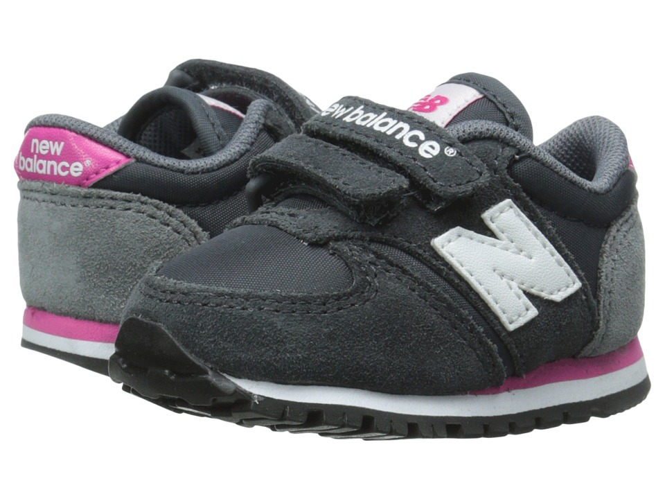 New Balance Kids - Classics 420 (Infant/Toddler) (Grey/Pink) Girls Shoes