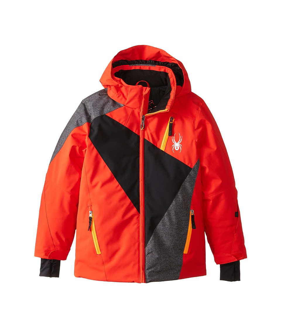 Spyder Kids - Enforcer Jacket (Big Kids) (Volcano/Black/Polar Wool Print) Boy's Coat