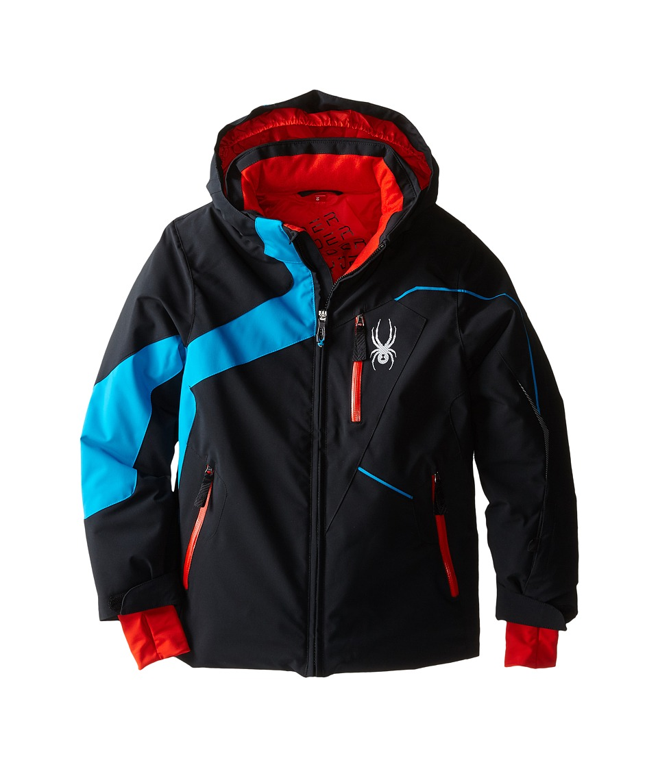 Spyder Kids - Rival Jacket (Big Kids) (Black/Electric Blue/Volcano) Boy's Coat