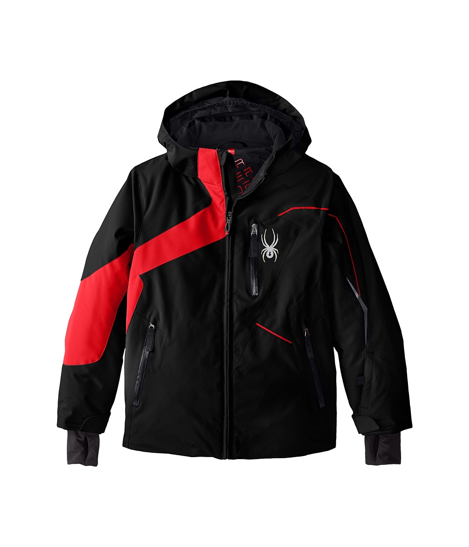 Spyder Kids - Rival Jacket (Big Kids) (Black/Volcano/Polar) Boy's Coat