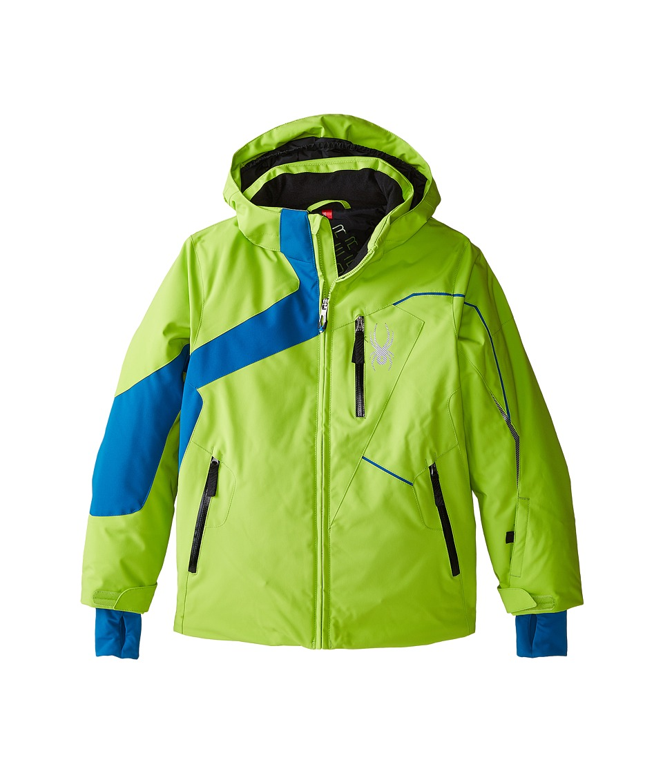 Spyder Kids - Rival Jacket (Big Kids) (Theory Green/Concept Blue/Black) Boy's Coat