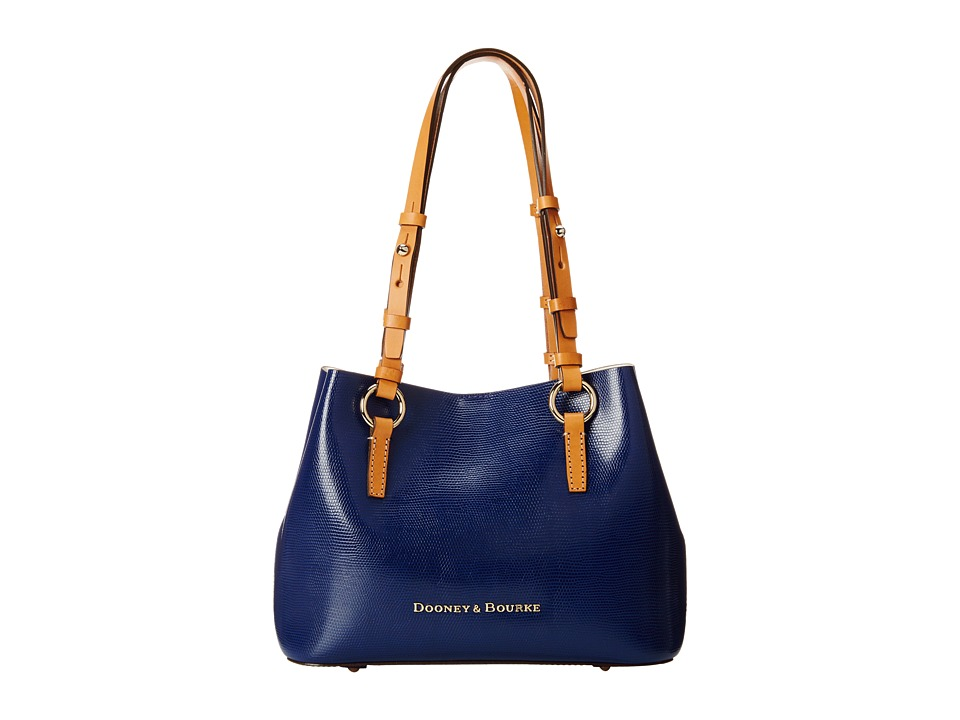 Dooney & Bourke - Siena Small Briana (Navy/White) Handbags