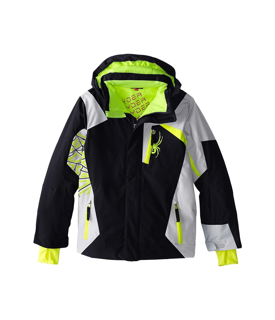 Spyder Kids - Challenger Jacket (Big Kids) (Black/Cirrus/Bryte Yellow) Boy's Coat