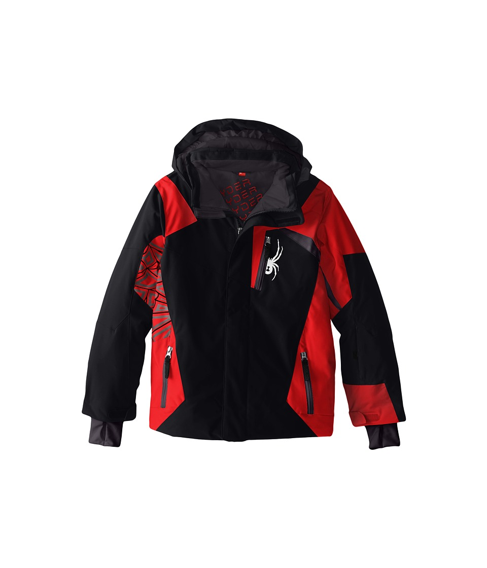 Spyder Kids - Challenger Jacket (Big Kids) (Black/Volcano/Polar) Boy's Coat