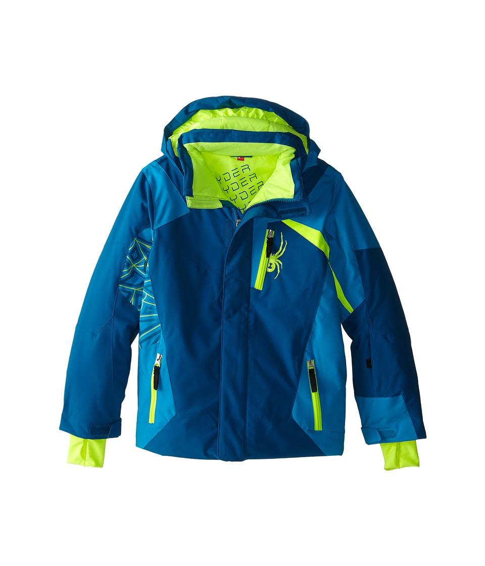 Spyder Kids - Challenger Jacket (Big Kids) (Concept Blue/Electric Blue/Bryte Yellow) Boy's Coat