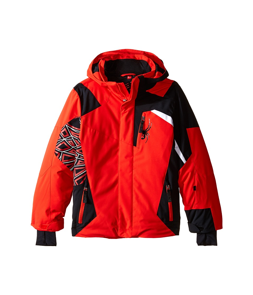 Spyder Kids - Challenger Jacket (Big Kids) (Volcano/Black/White) Boy's Coat