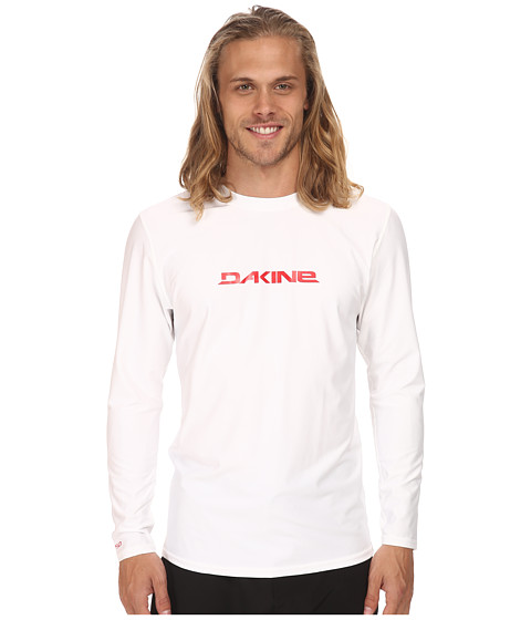 Dakine - Heavy Duty Long Sleeve (Loose) (White) Men's Swimwear