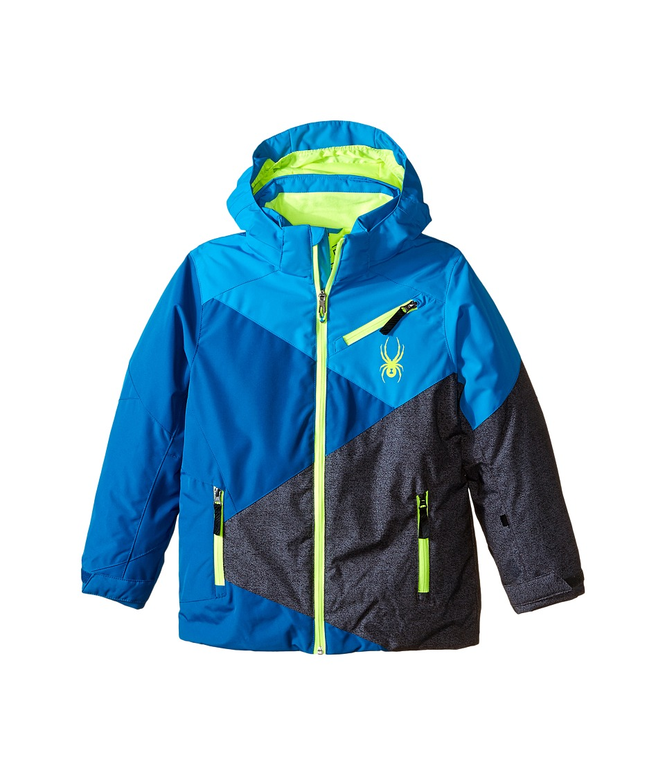 Spyder Kids - Ambush Jacket (Big Kids) (Concept Blue/Electric Blue/Polar Wool Print) Boy's Coat