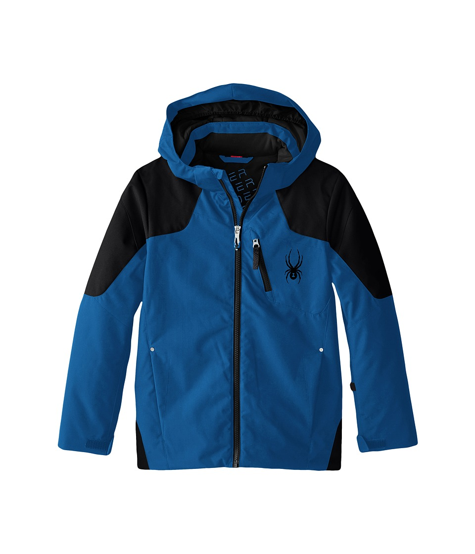 Spyder Kids - Squaw Jacket (Big Kids) (Concept Blue/Black/Black) Boy