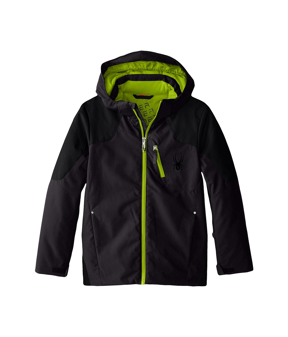 Spyder Kids - Squaw Jacket (Big Kids) (Polar/Black/Theory Green) Boy's Coat